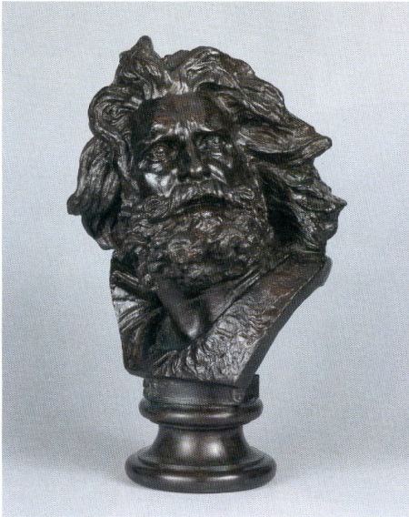 Head of a Gaul by Francois Rude (1784-1855)